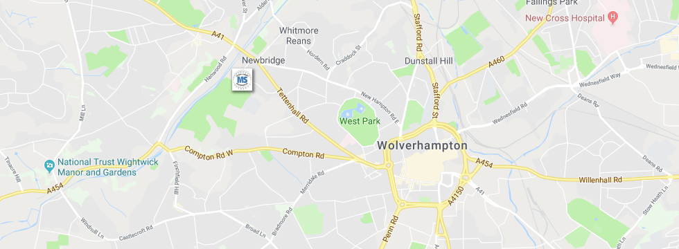 Large Map of Wolverhampton